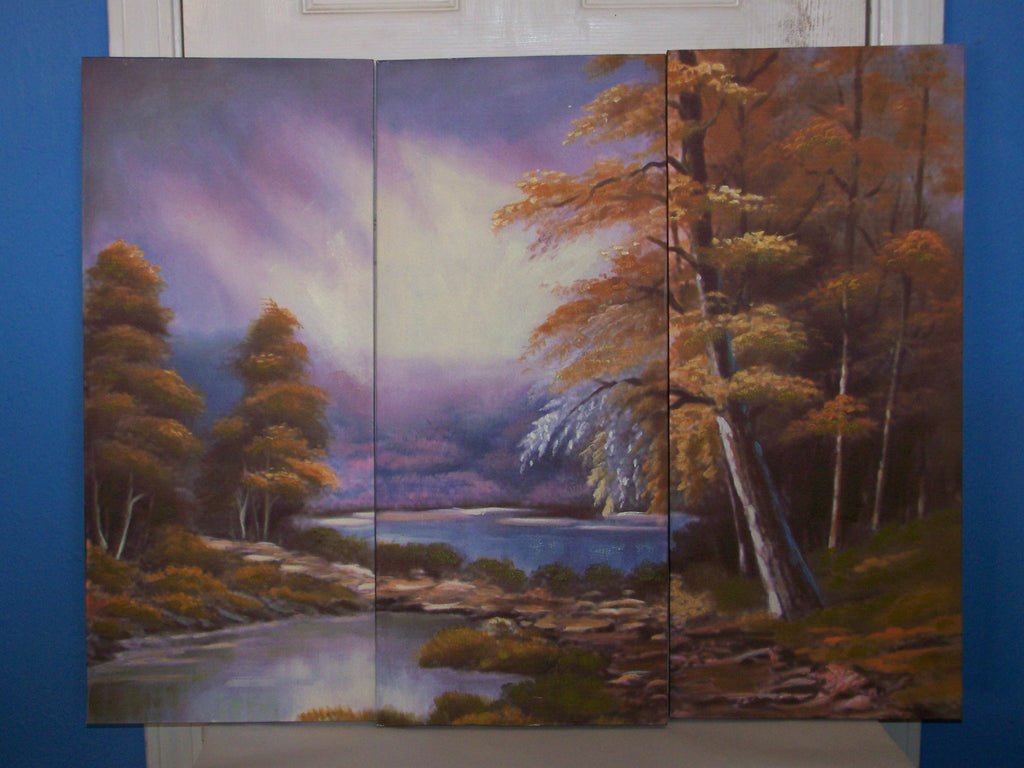 3 Piece Country Autumn Paintings
