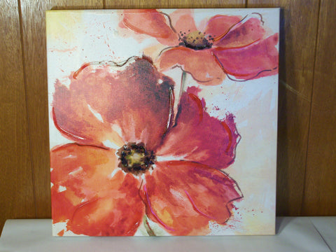 Red Flowers Canvas Painting