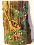 Ruth Meyers Tree Bark Bird Looking Down