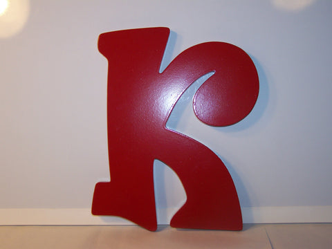 """K"" - Red Wooden"