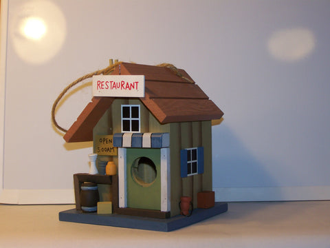 "Wood ""Restaurant"" Birdhouse"