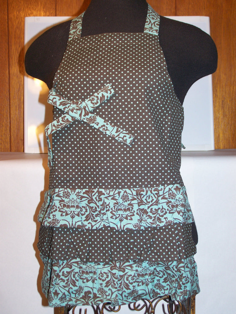Brown/Green Child's Apron