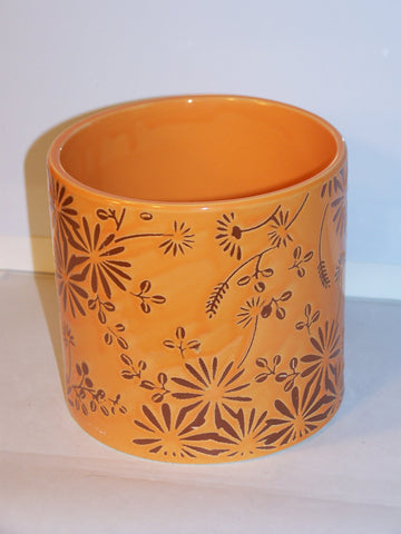 Orange Flower Pottery