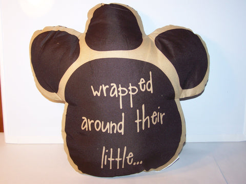 Brown Paw Pillow