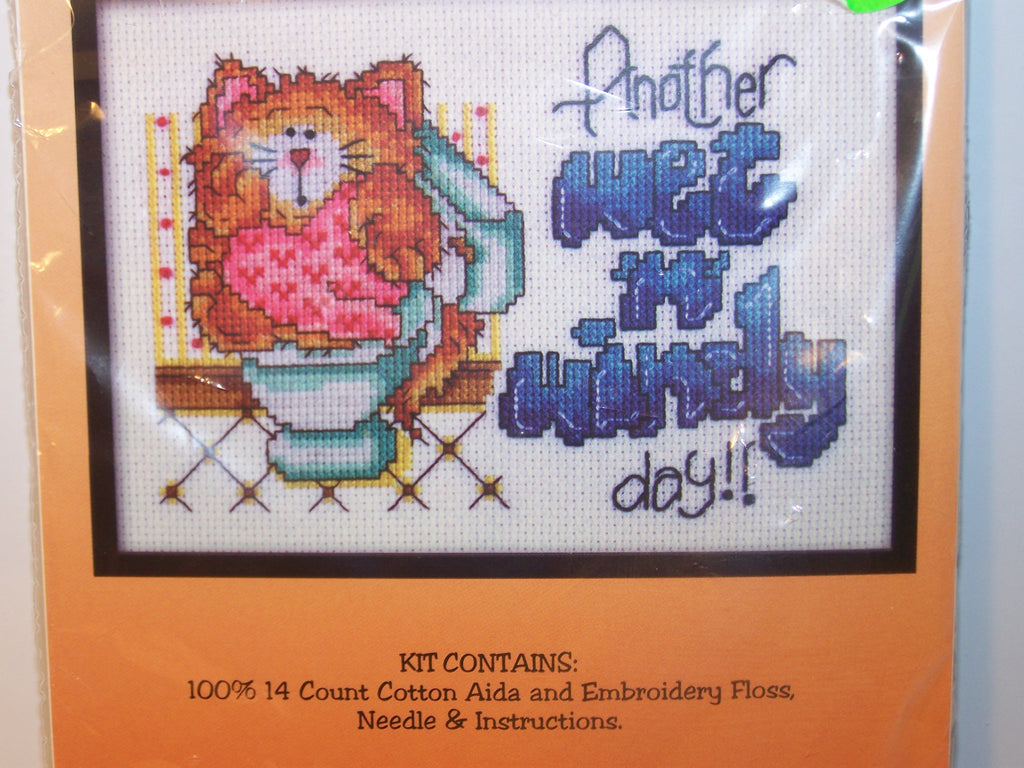 "Design Works counted cross stitch kit ""Wet 'n Windy"" design"