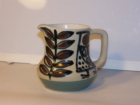 Creamer - Ceramic Bird & Leaf