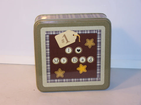 """I Love My Dad"" Tin Storage Box"