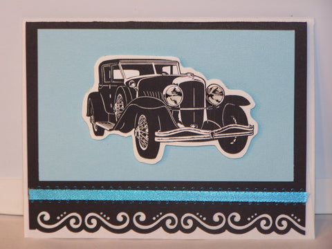 Any Occasion Card - black/blue car