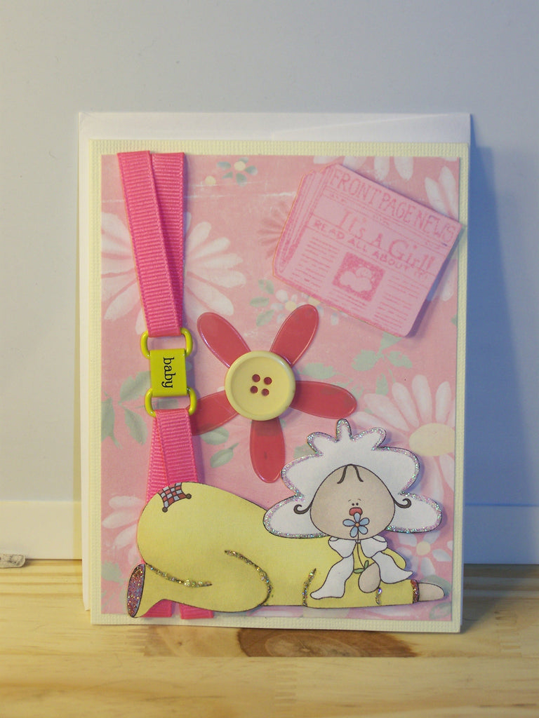 Baby Card - Baby Ribbon