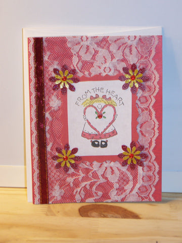 "Any Occasion - red ""From the Heart"" card"