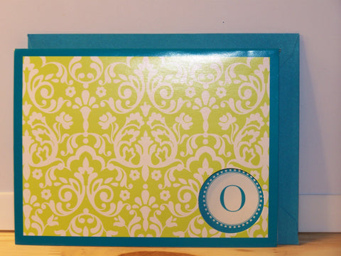 """O"" note card - set of 6"