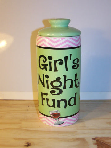 Girls Night Out Fund Ceramic Jar