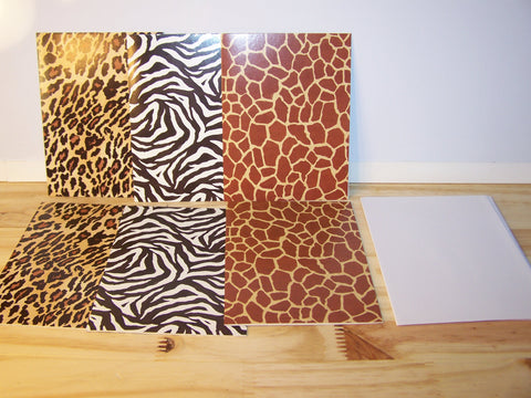 Animal Print Cards - Set of 6