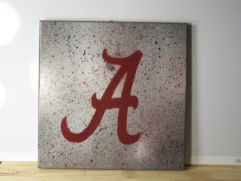 University of Alabama Splatter Painting