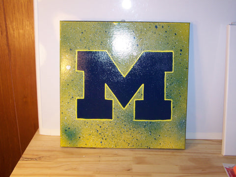 University of Michigan Splatter Painting