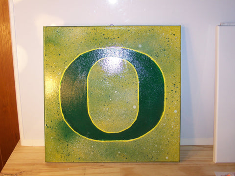 University of Oregon Splatter Painting
