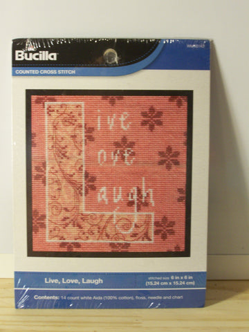 Live Love Laugh Cross Stitch Kit