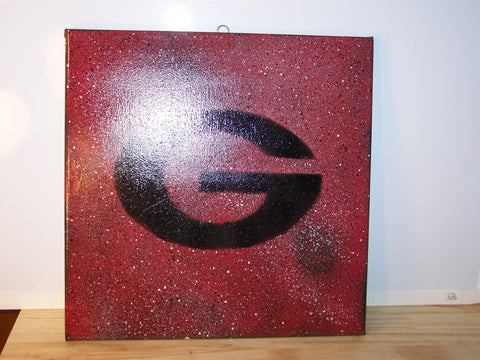 University of Georgia Splatter Painting