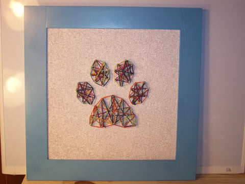 Colorful Paw Nail/String Art