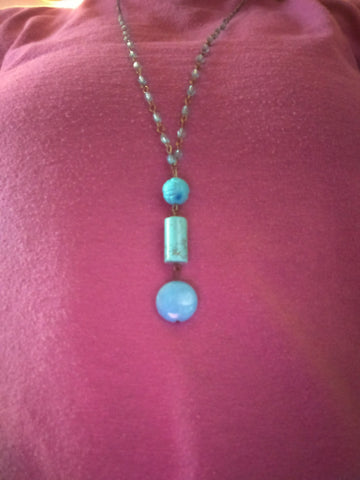 3 Stone Blue Necklace