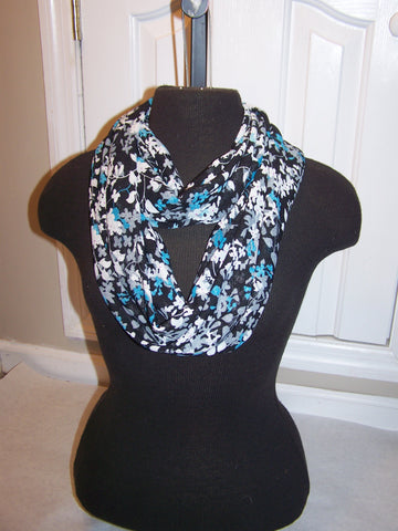 Flowered Infinity Scarf