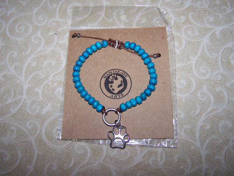 Beaded Bracelet with Dog Lover Charm