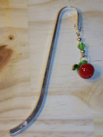 Apple Beaded Bookmark