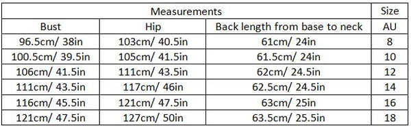 alaia sizez guide garment measurements