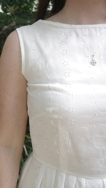 Abril broderie anglaise dress
