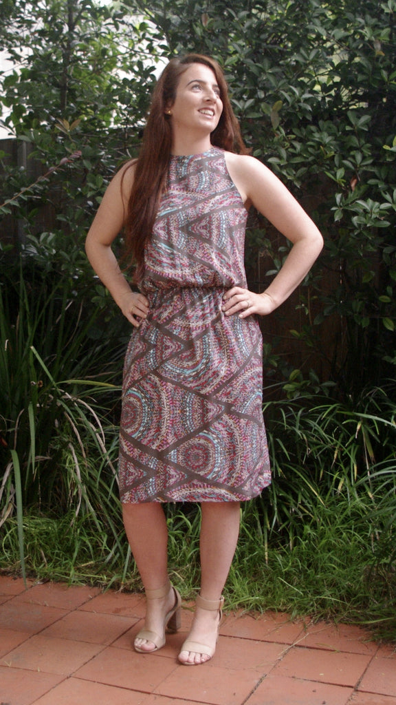 Aiyana zig zag print dress