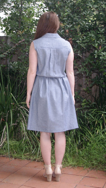 AASHVI Chambray Shirt Dress