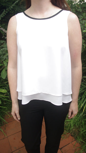 Adalene black or white top