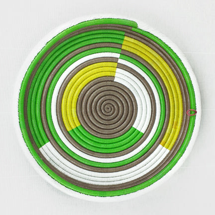 Green  |  Multicolor Circles (Tray)