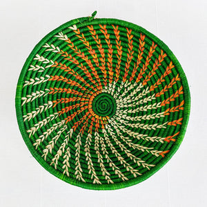 Green Feathered Basket