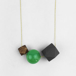 Chunky Geometric  |  Grey + Green + Brown