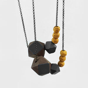 Dark Geometric Necklace