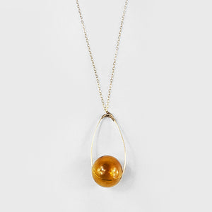 Glass  |  Translucent Amber Pendant