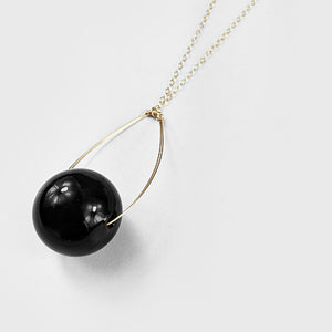 Glass  |  Solid Black Pendant
