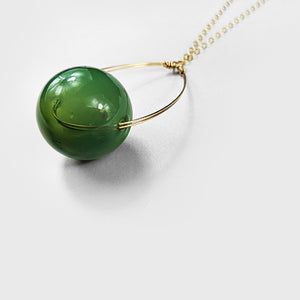 Glass  |  Solid Green Pendant