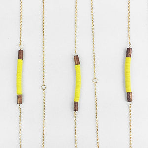 Yellow  | Stacked Beads