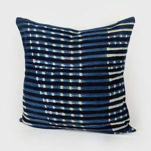 Dotted Stripes | Indigo Pillow