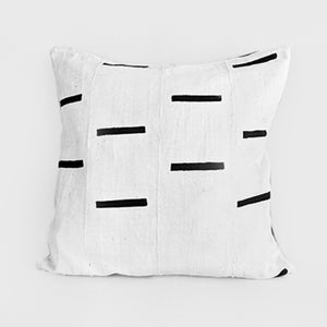 African Mud Cloth  |  White + Black Dashes