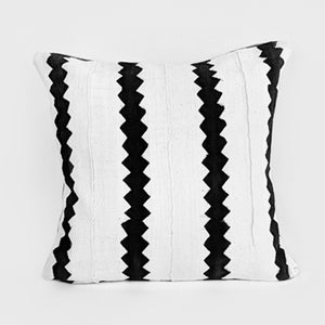 African Mud Cloth  |  White + Black Zig Zag