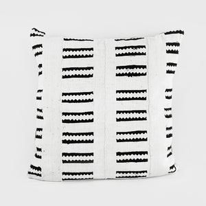 African Mud Cloth  |  White + Black Zip Pattern