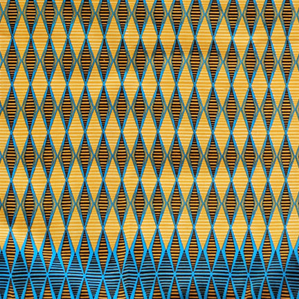 Cotton  |  Blue + Yellow Geometric Pattern