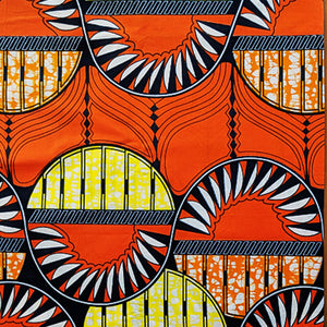 Cotton  |  Orange + Yellow Pattern