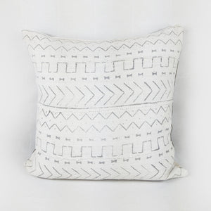 African Mud Cloth  |  Grey + White Tribal Print
