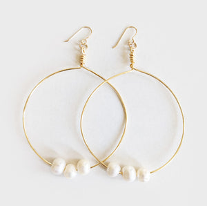 Pearl | Hoop Earrings