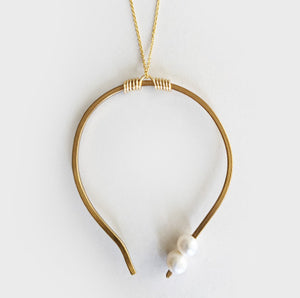 Zulu | Brass Pendant Necklace