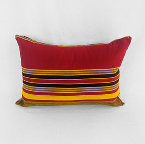 Red Stripes | Cotton Pillow